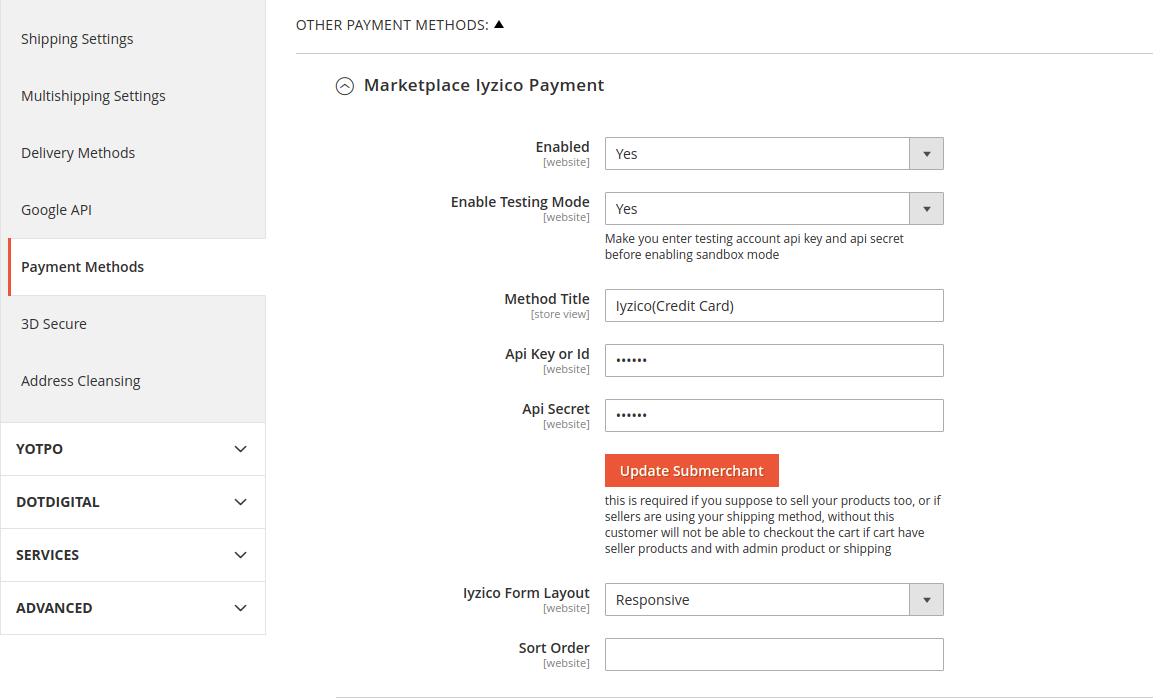 Configuration-payment-iyzico