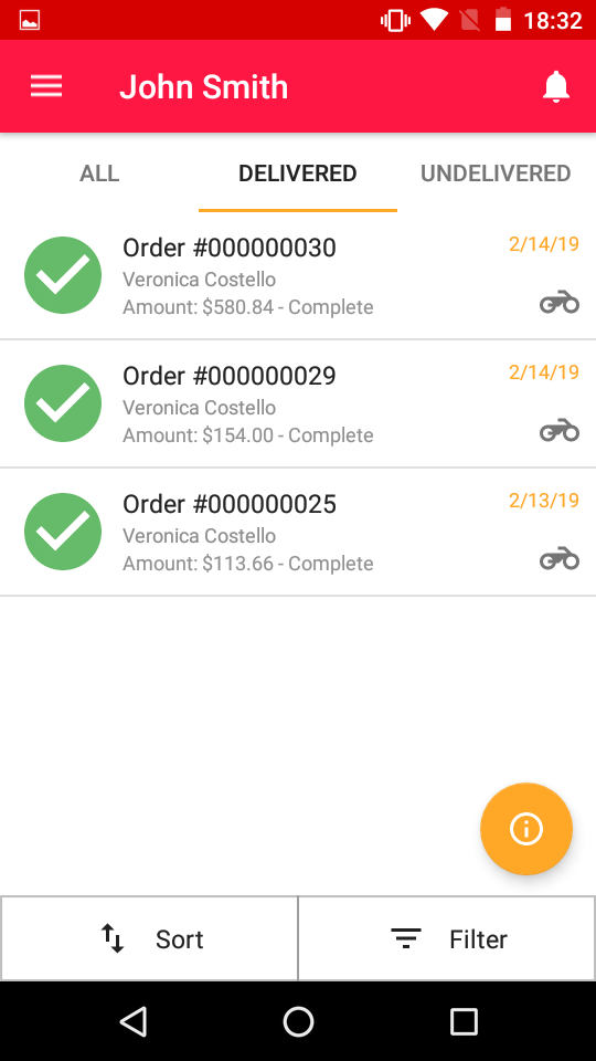 order detail