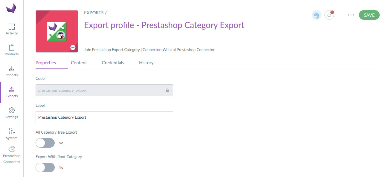 category export