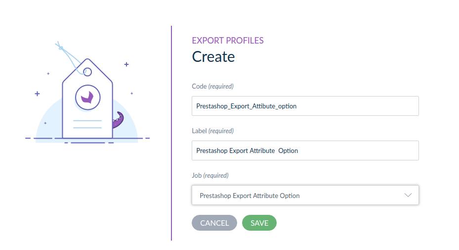 export attribute option