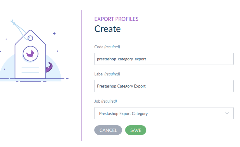 create category export profile