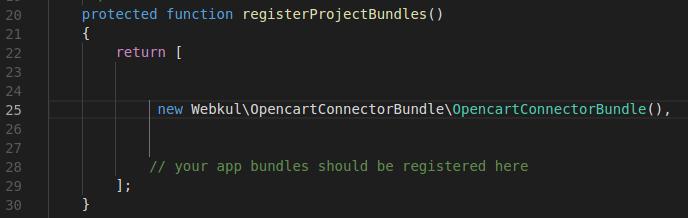 Code in AppKernel.php files