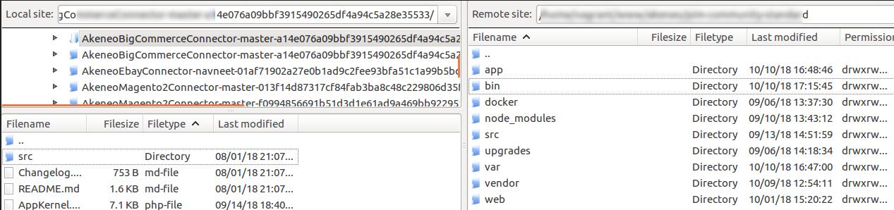 Upload Webkul src folder