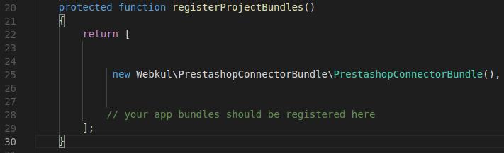 AppKernel.php file code