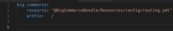 Add code in routing.yml file