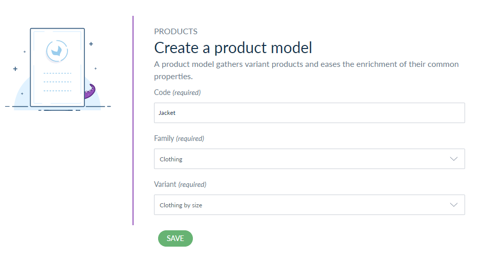 product model information