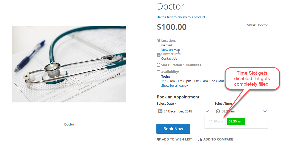 Appointment Frontend checkout