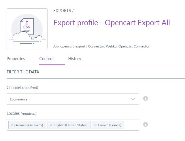 export all - content