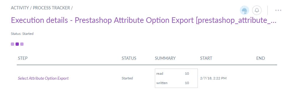 attribute option export details