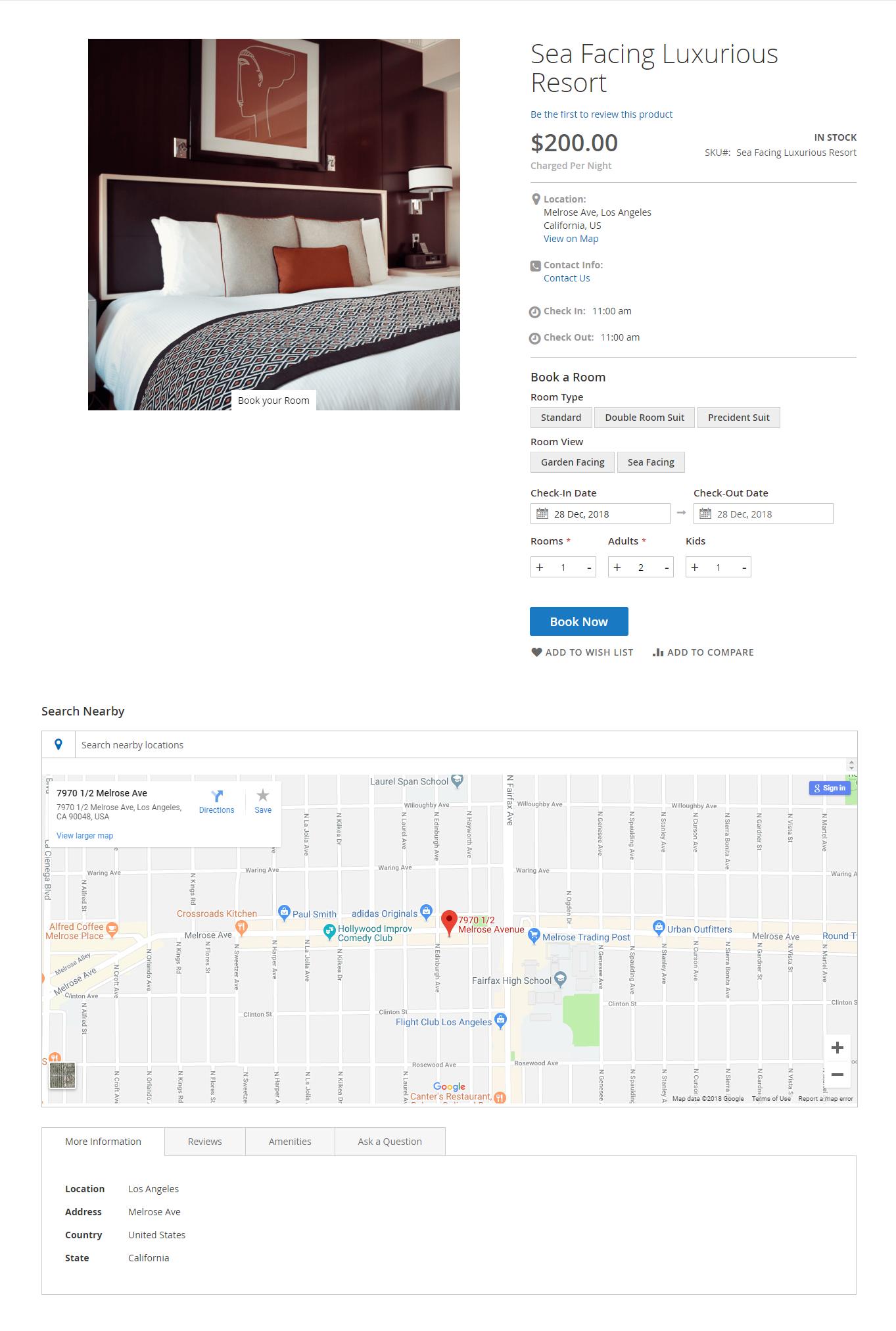 Magento 2 Rental Extension_hotel