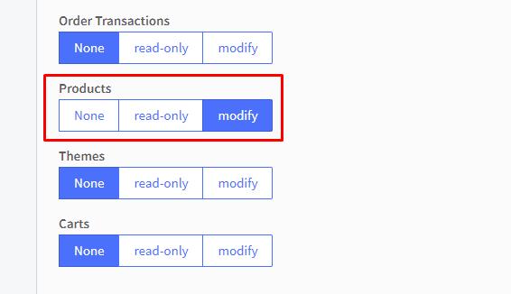 modify products permission