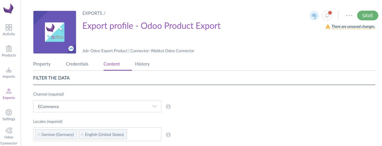 odoo-product-export