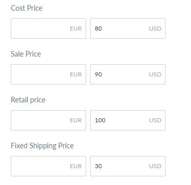 pricing details