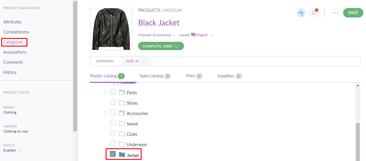 product model category