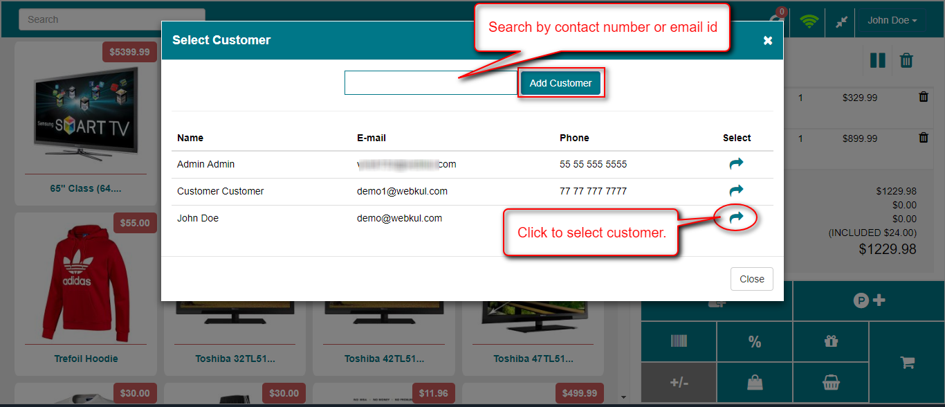 select customer