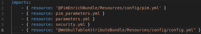Write code in Config.yml file