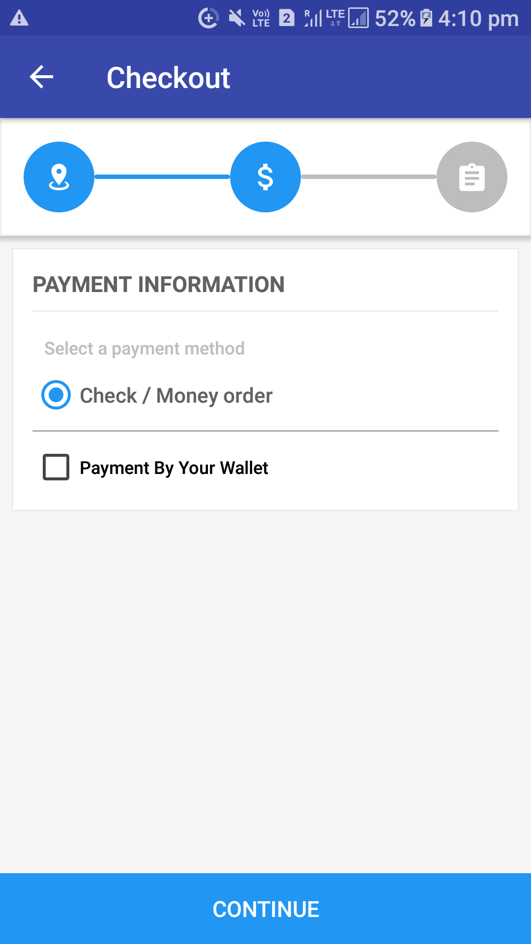 Opencart Mobikilul Wallet - Choose Your Preffered Payment Method