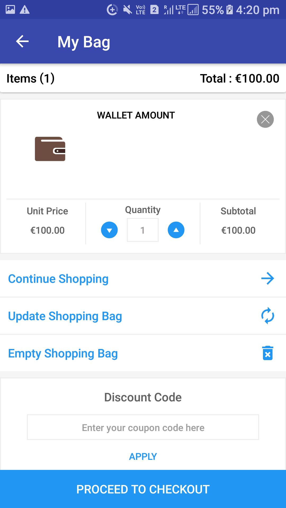 Opencart Mobikul Wallet - Check Wallet Amount