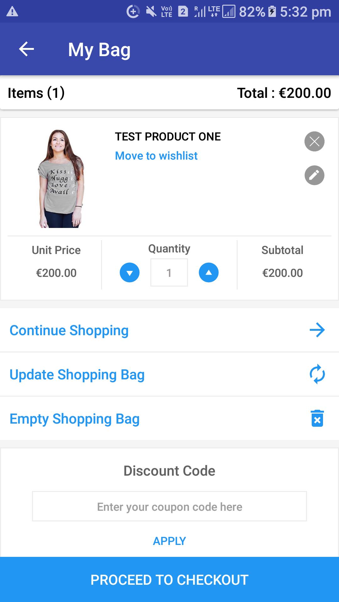 Opencart Mobikul Wallet - Apply Discount Code