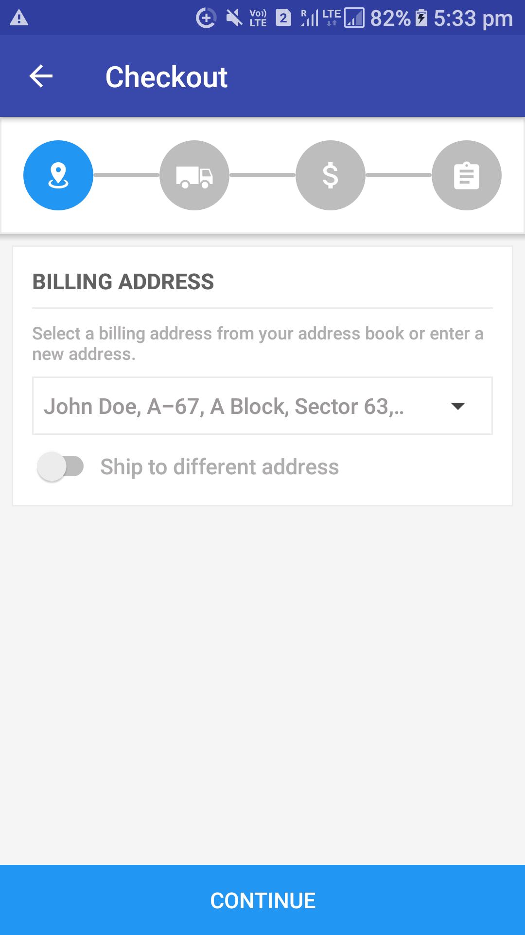 Opencart Mobikul Wallet - Select Billing Address