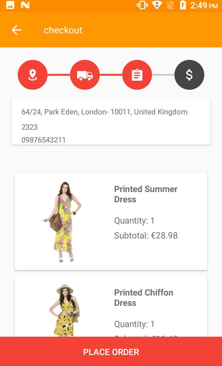 Opencart Mobikul Wallet - Checkout Page