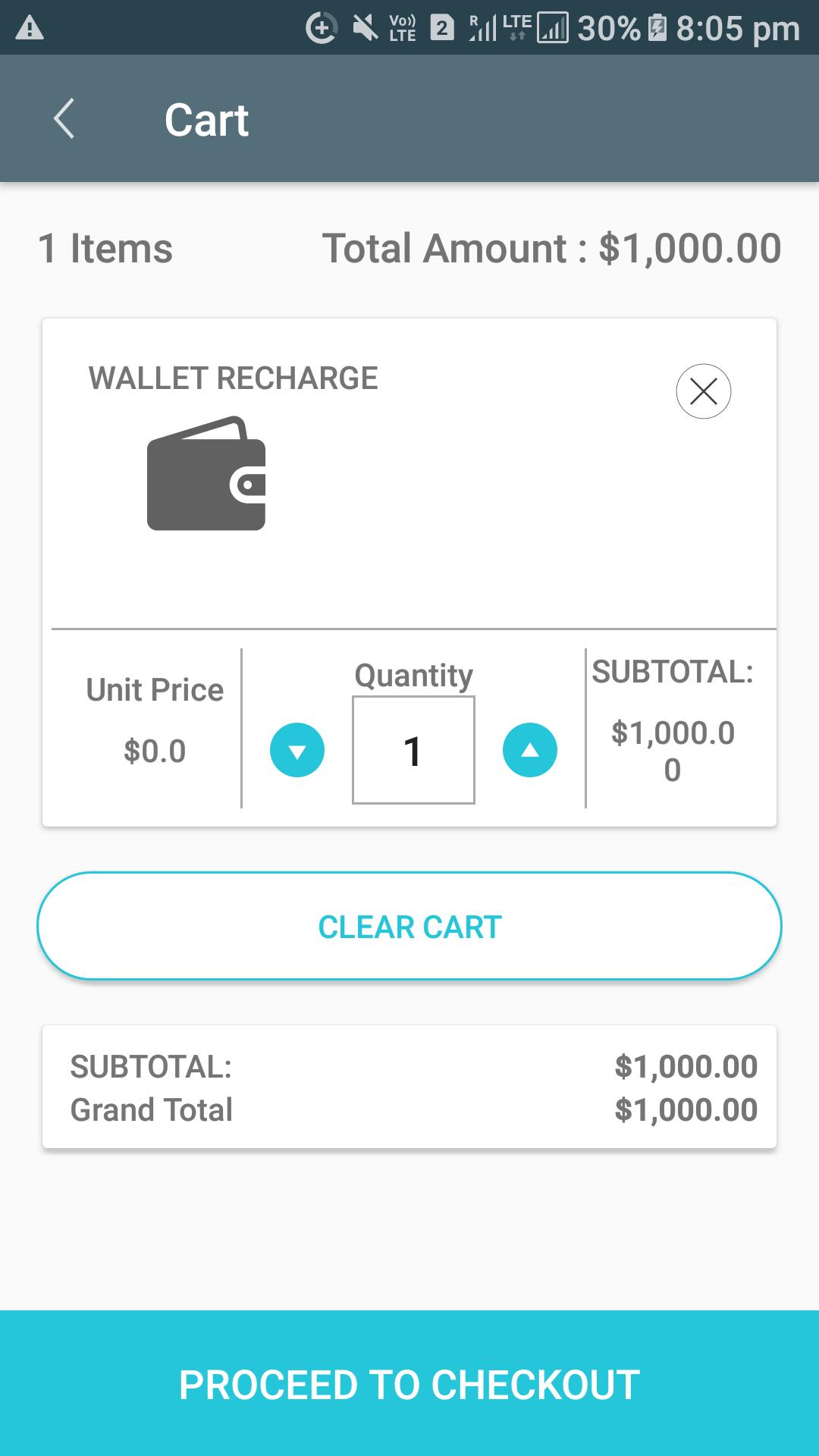 Opencart Mobikilul Wallet - Cart Details Visible