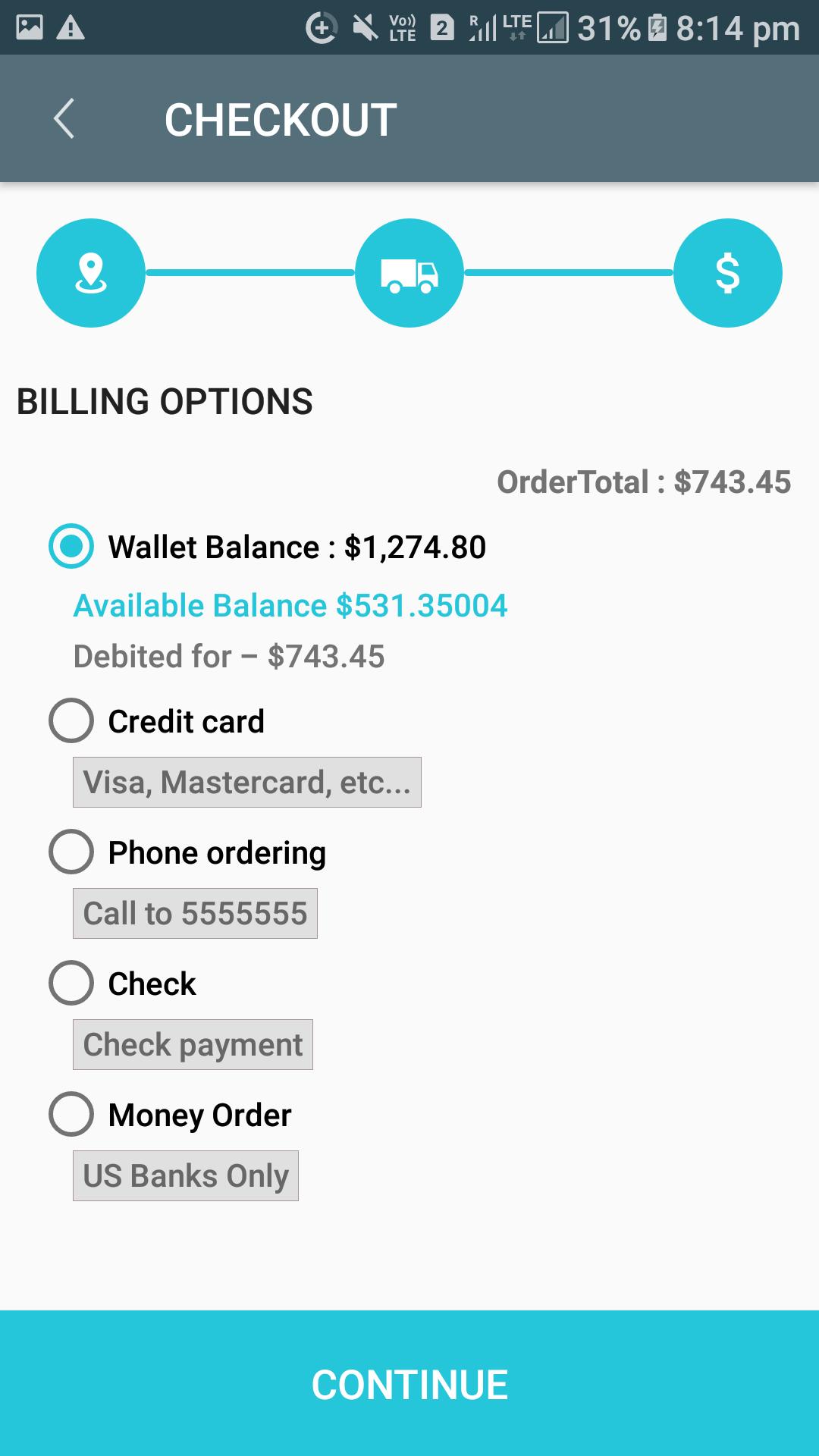 Opencart Mobikilul Wallet - Checkout Process