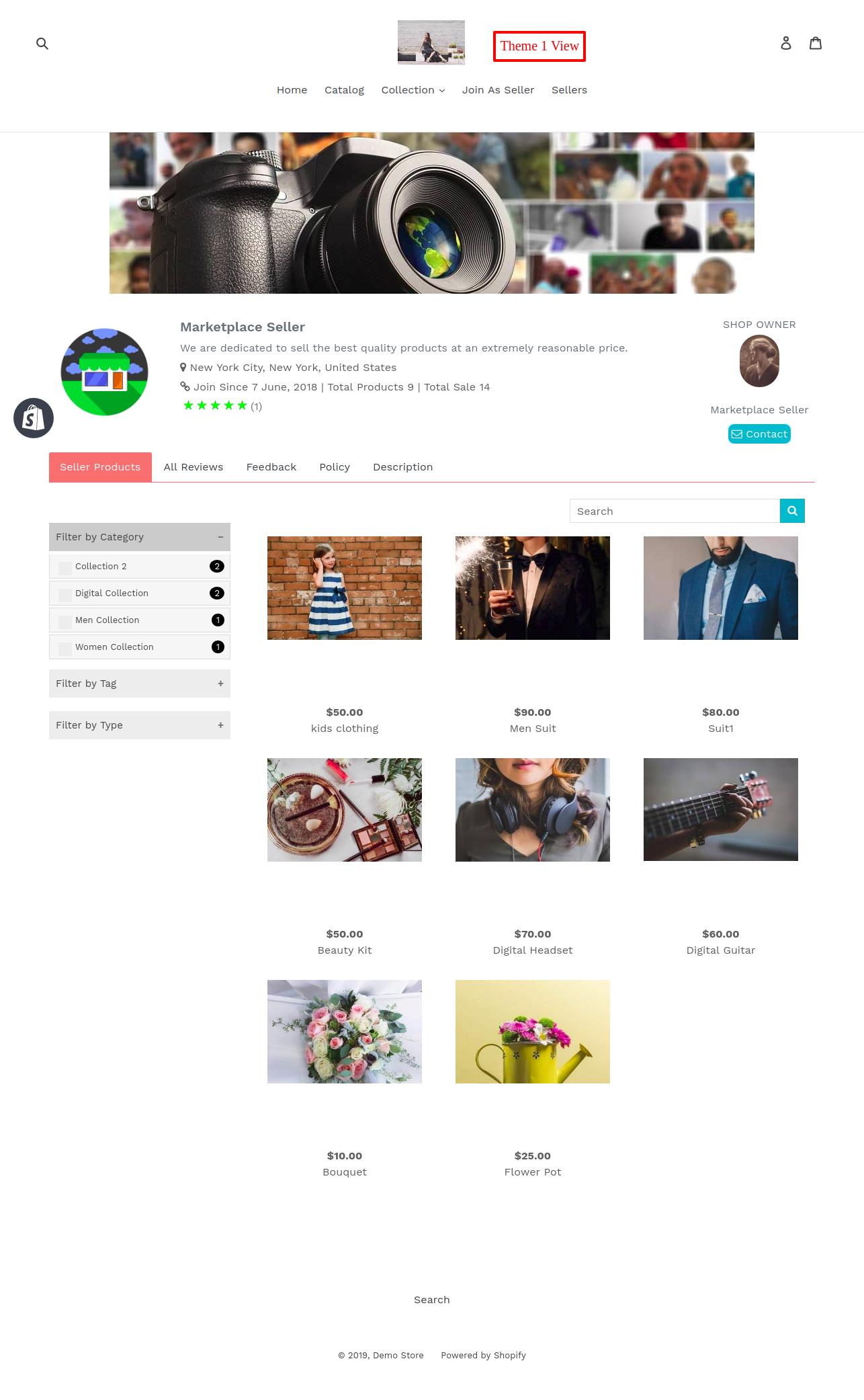 Seller Profile Theme1
