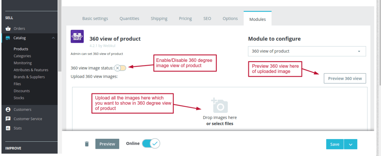 enable 360 degree view for product