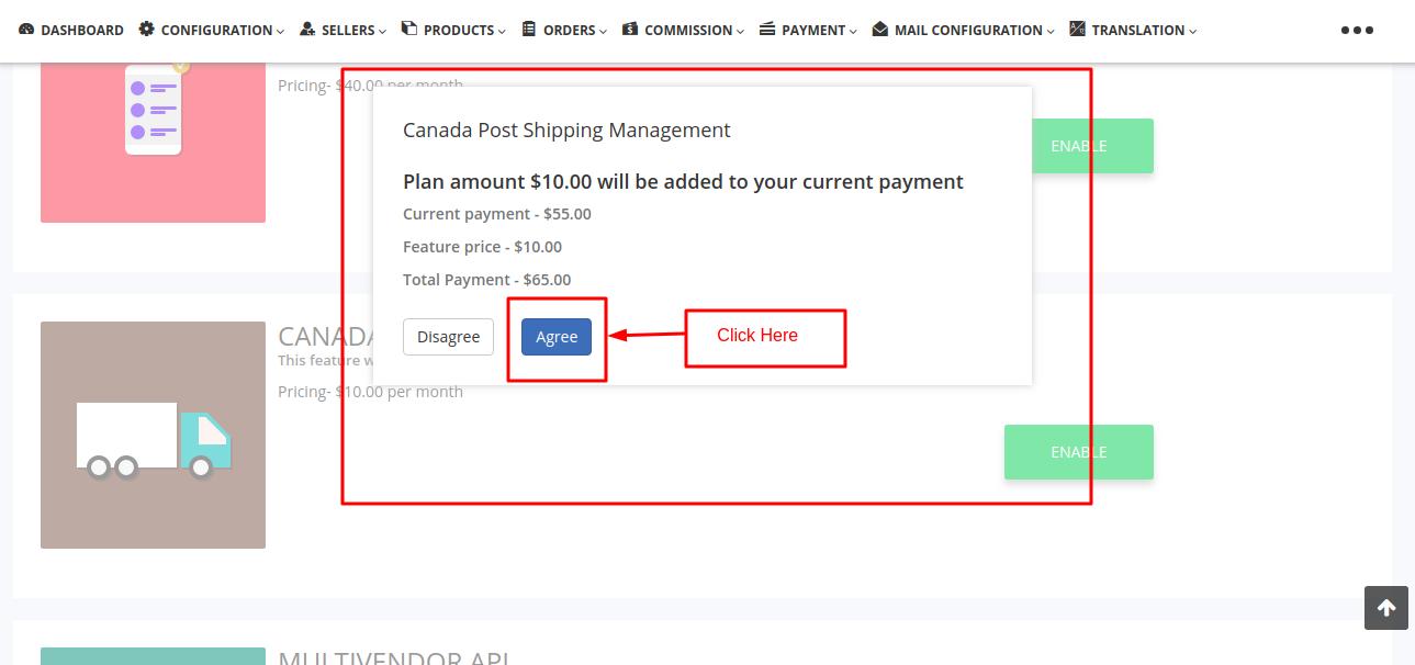 Multi Vendor Marketplace Canada Post