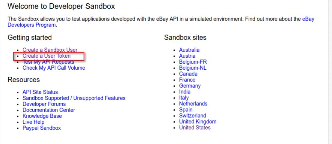 Create Ebay Sandbox And Developer Account