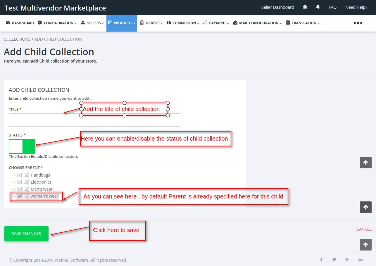 Multi Vendor Marketplace Multilevel Collection
