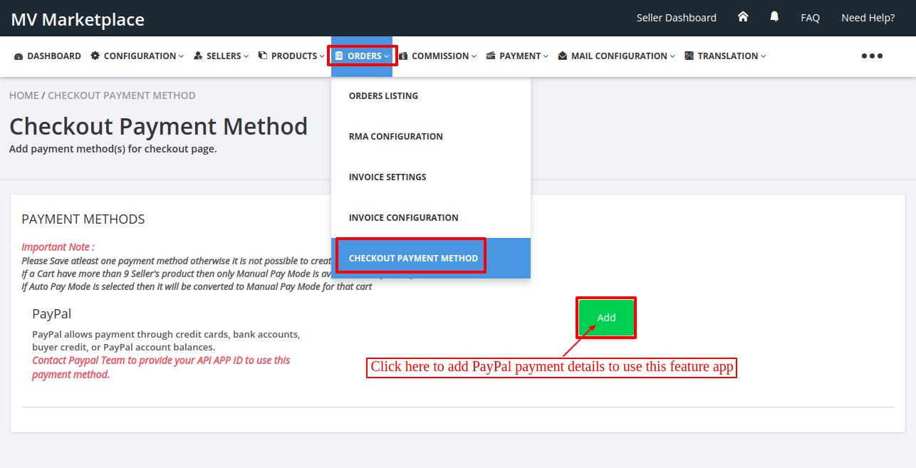 Shopify Multivendor Marketplace App Paypal Adaptive Feature