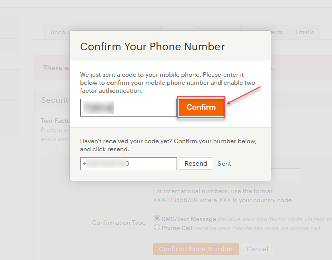 Opencart etsy connector Two-Factor Authentication