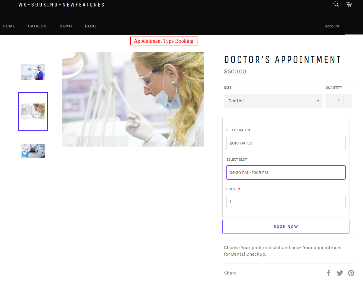 Doctor s Appointment – wk booking newfeatures