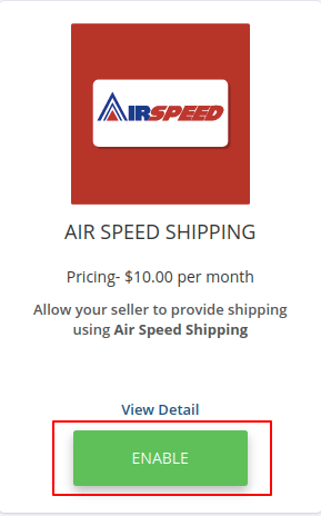 air speed shipping