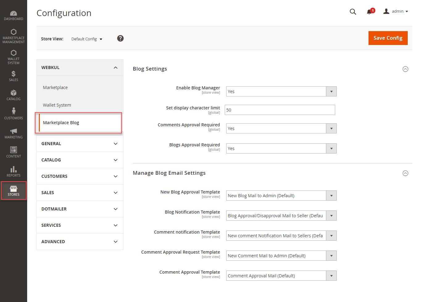 manage-blog-configuration