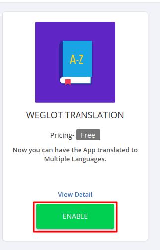 Weglot Translation