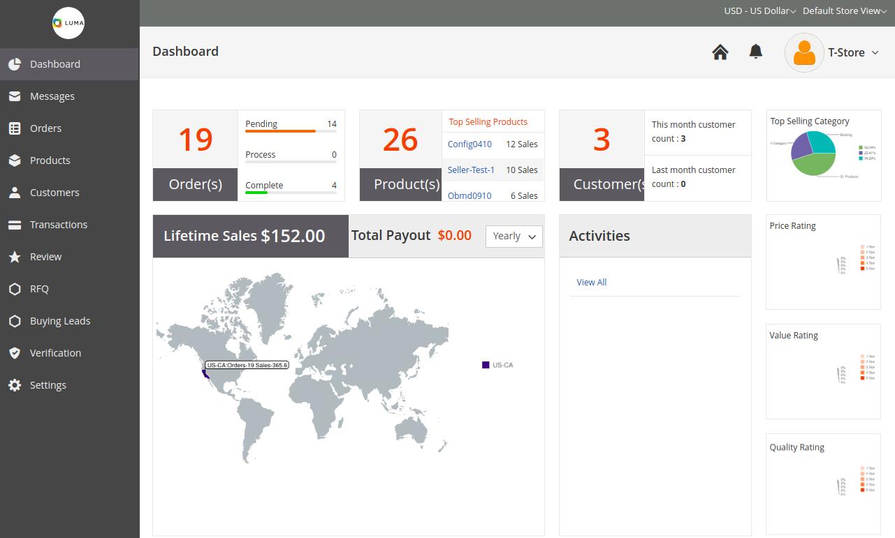 webkul-magento2-b2b-marketplace-Supplier-Dashboard