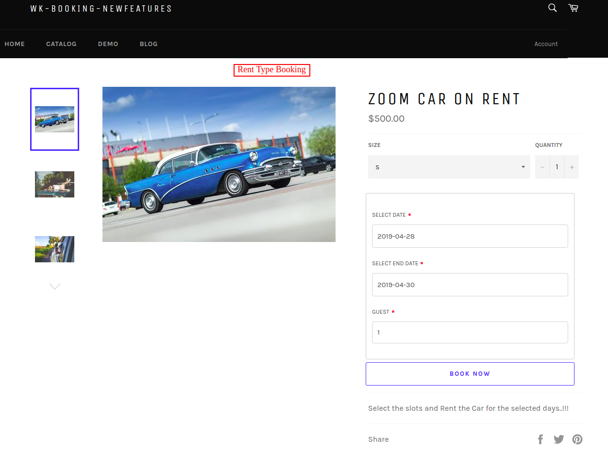 Zoom Car on Rent – wk booking newfeatures