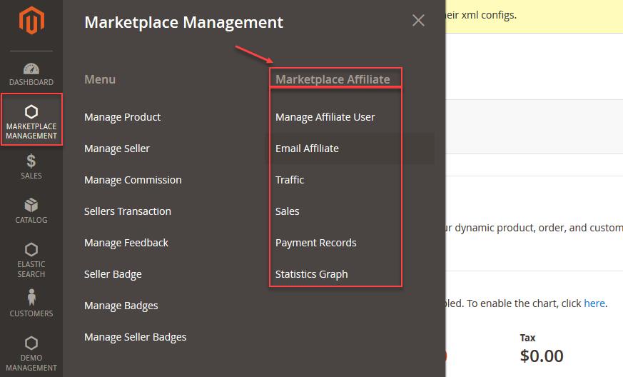 Magento 2 Marketplace Affiliate System