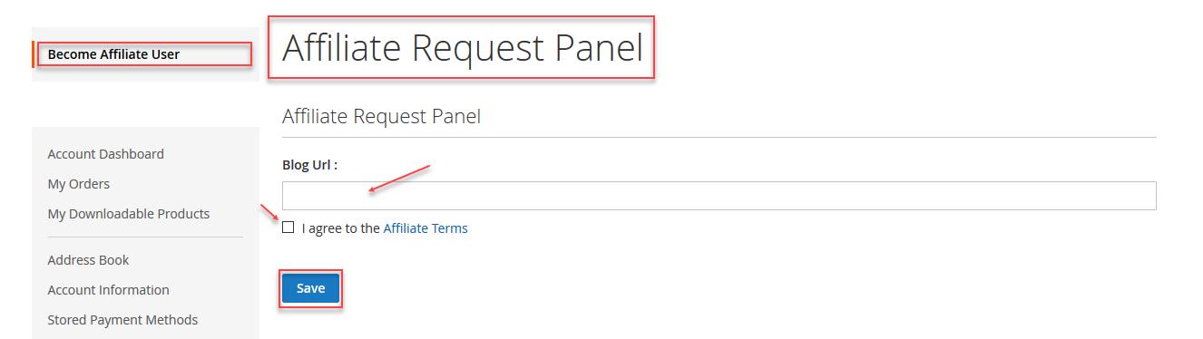 Default Registration Affiliate User