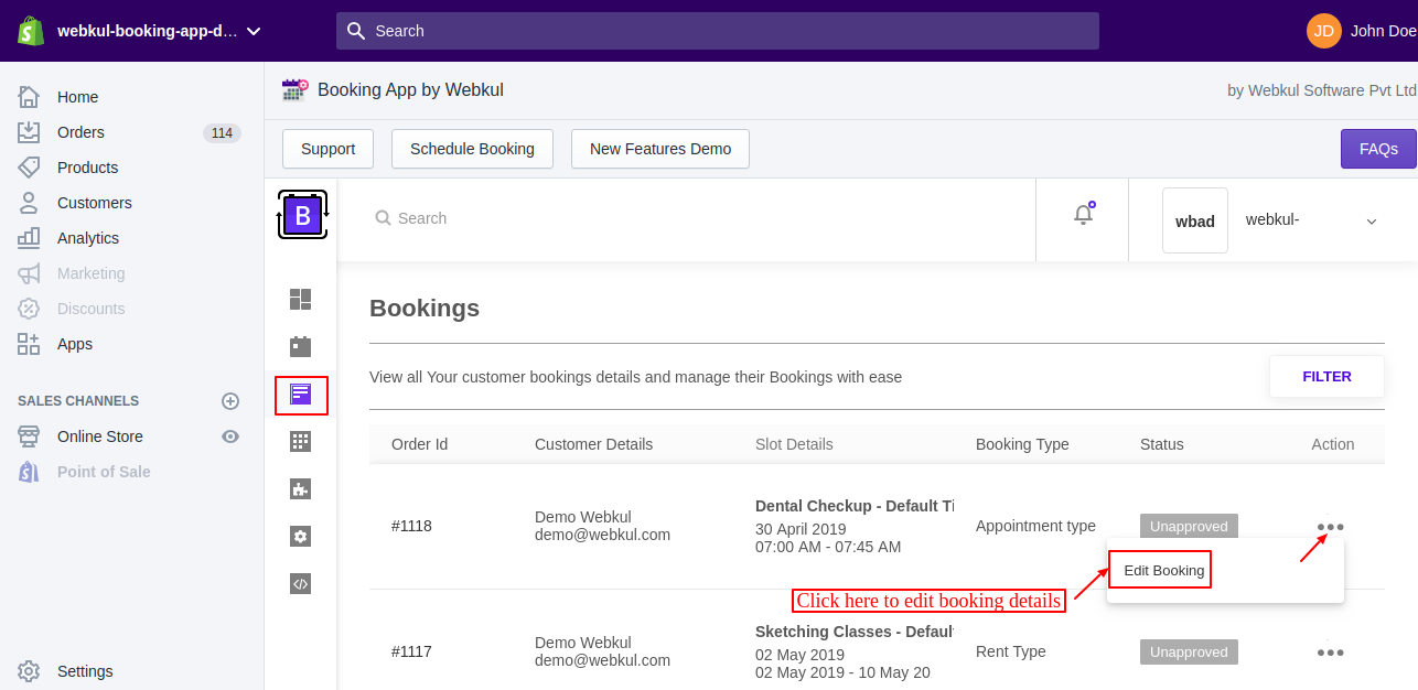 Booking App for Shopify | Appointment Bookings | Rental Bookings