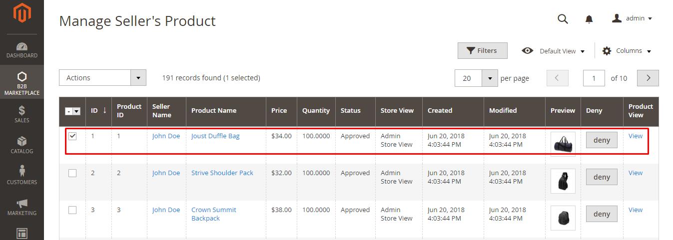 webkul-magento2-b2b-marketplace-product-approve-admin