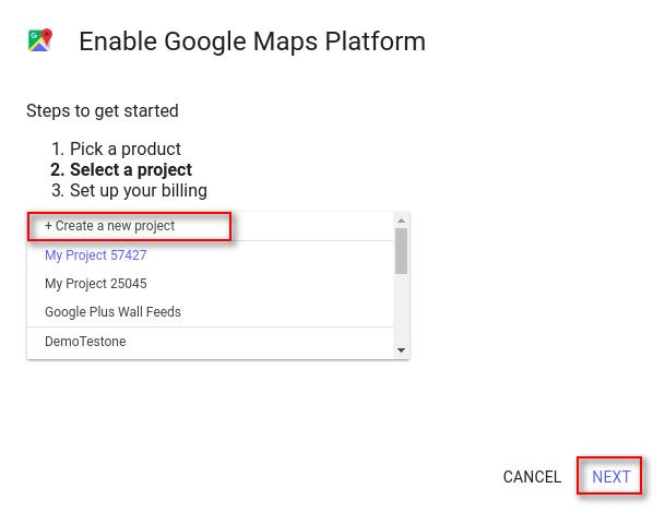 enable Google Map Platform