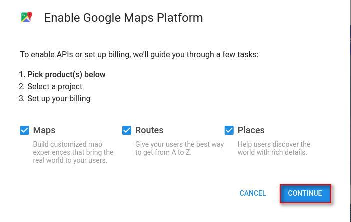 enable Google Maps Platform_maps_routes_places