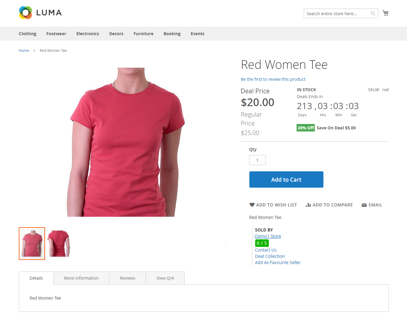 Marketplace Daily Deal For Magento2 product page insight