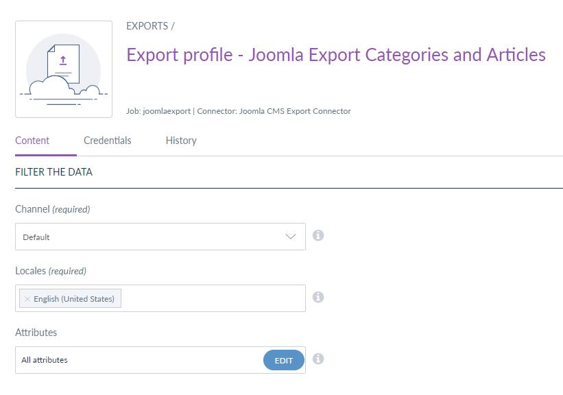 webkul-joomla-akeneo-connector-export-profiles-content