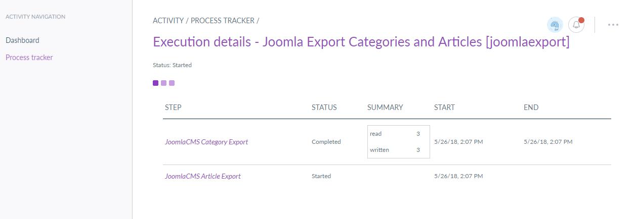 webkul-joomla-akeneo-connector-export-profiles-process