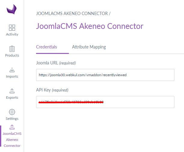 webkul-joomla-akeneo-connector-module-configuration-credentials